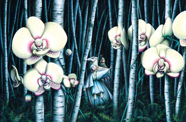 La foresta con Orchideee carnivore