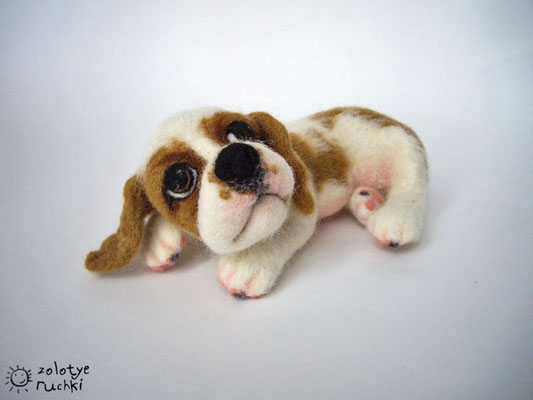 авторская игрушка, щенок Чарли