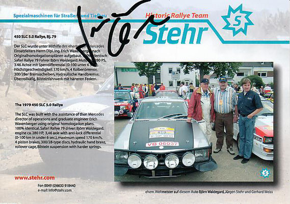 Historic Rally - Rally Autographs