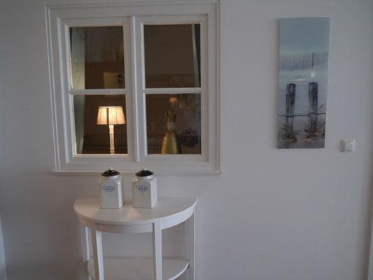 Fenster zum Schlafzimmer 2 von der Küche aus gesehen