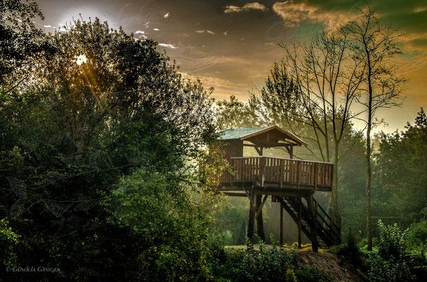 Aussichtsplattform im Ferienpark Geesthof