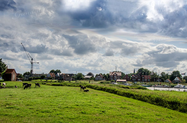 Blick auf den Geversdorfer Hafen