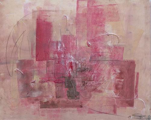 Leidenschaft I 100 x 80 cm I eingefasst in Schattenfugenrahmen aus Holz maronifarben