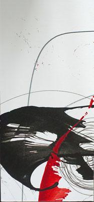 Trauerkarte I Karton + Tusche I 27 x 11,5 cm I 25 €