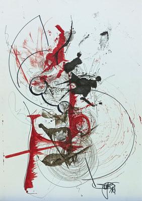 Bild Kreislauf I 60 x 90 cm I schwarzer Rahmen I Passepartout I 350 €