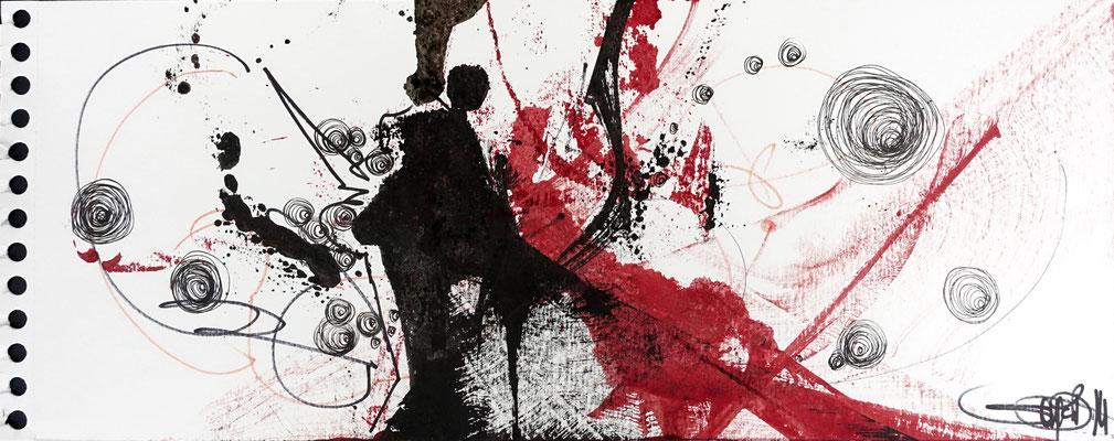 Paar I 73 x 53 cm I schwarzer Rahmen I Passepartout I 250 €