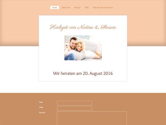 Hochzeitswebsite von Nadine & Florian