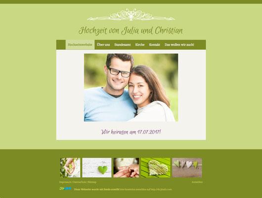 Hochzeitswebsite von Julia & Christian