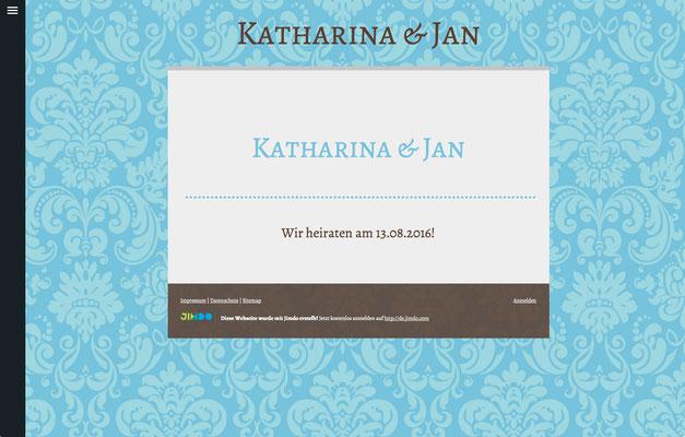 Hochzeitswebsite von Katharina & Jan