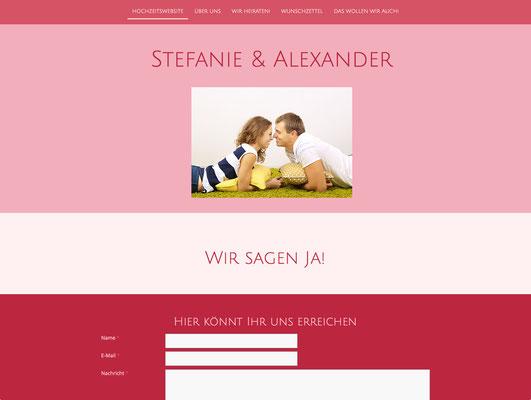Hochzeitswebsite von Stefanie & Alexander