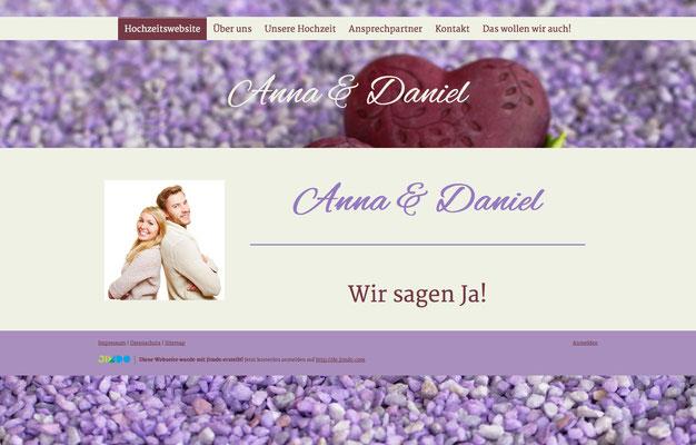 Hochzeitswebsite von Anna & Daniel