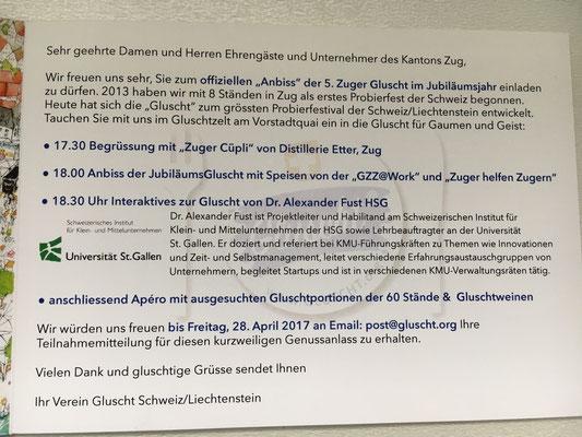 Mit Probierspeisen aus 20 Ländern, Unternehmervortrag der Universität St. Gallen uvm.