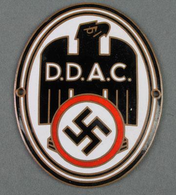 D.D.A.C Niemiecka odznaka automobilowa , wydane również wpinki