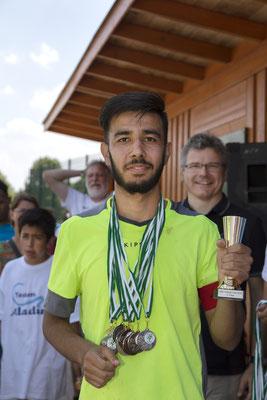 Die Afghanische Männergruppe die sich wöchentlich im Gertrudisturm (Gemeinde St. Gertrud) traf nahm beim Fußballfest der CBE Mülheim teil (2018)
