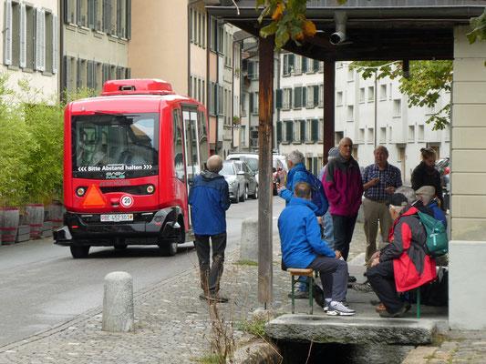 Auch Bern hat einen unbemannten Bus.