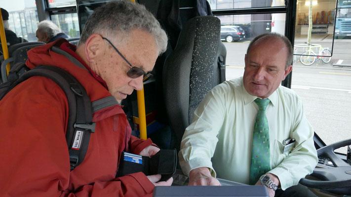 Micky mit Chauffeur René Lauchenauer