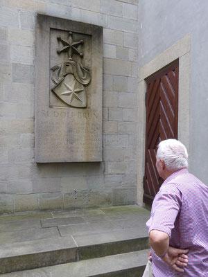 Wasserkirche, Rudolf Brun-Gedenktafel, Tardo
