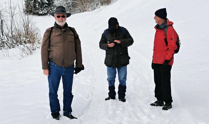 Drei Männer im Schnee - Zingg, Patsch, Chlapf