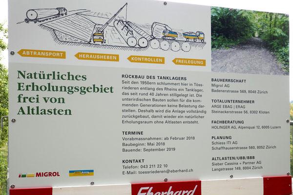 Infotafel Tanklager-Rückbau