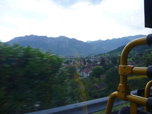 Aussicht vom Bus