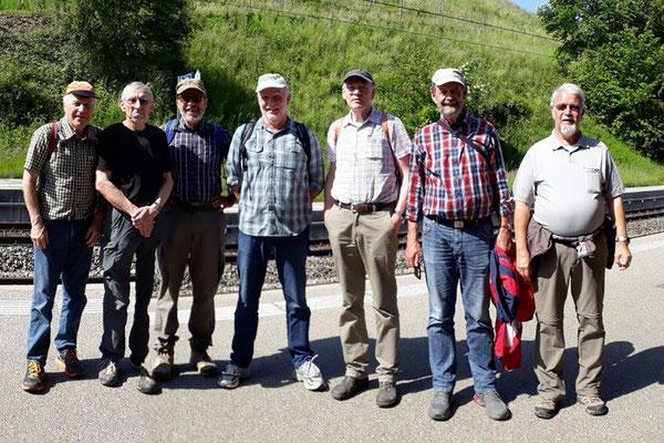Nachwanderer Piper, Goliath, Kardan, Rugel, Gun, Pröschtli und Zingg