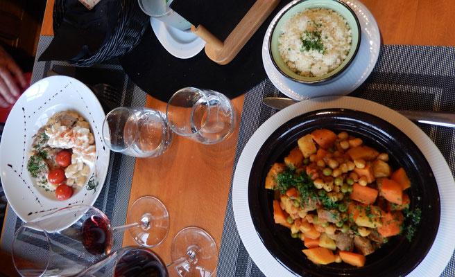 Chlapf's Crème-Gnocchi & Zingg's Lamm-Tajine mit Couscous