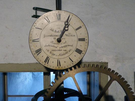 St. Peter, Glockenantrieb, Kontrolluhr
