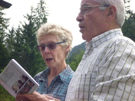 Die Gastgeber Annamarie und Strotz