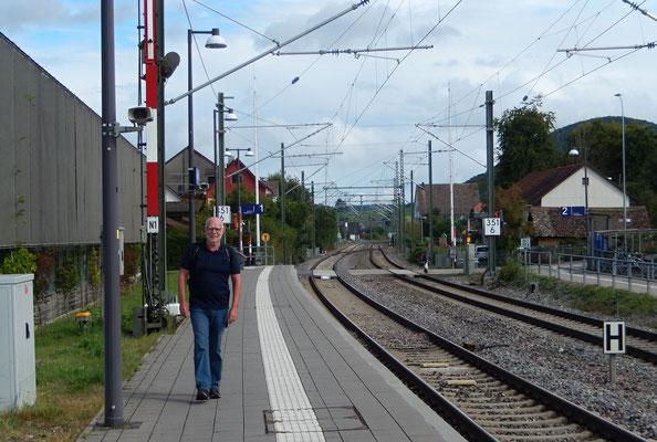 Empfangskommittee Rugel am Bahnhof Nüüchirch