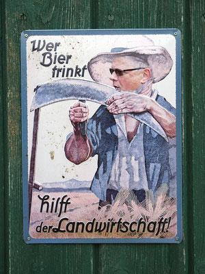 Plakat Wer Bier trinkt