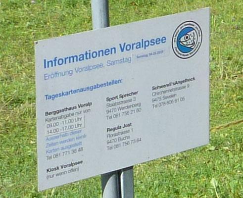 ... die Informationen zum Voralpsee