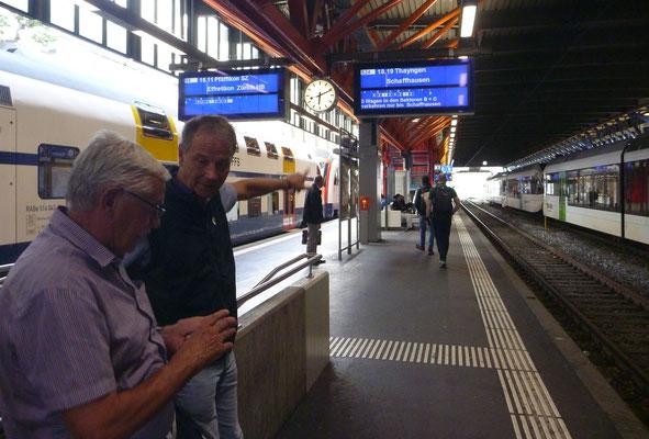 Letztes Umsteigen in Winterthur: Mig und Ready