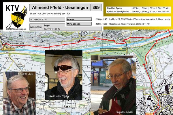 Wanderung 869:  Frauenfeld - Wart - Üsslingen