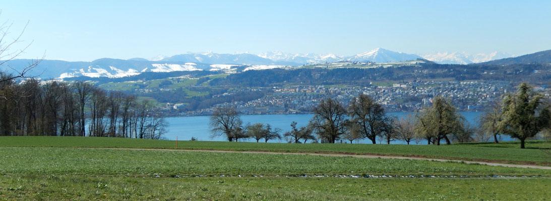 Aussicht auf Berner Alpen