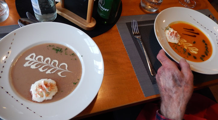 Zingg's Maronicrèmesuppe & Mex' Kürbiscrèmesuppe
