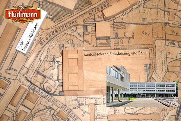 Modell der Stadt Zürich:  Freudenberg