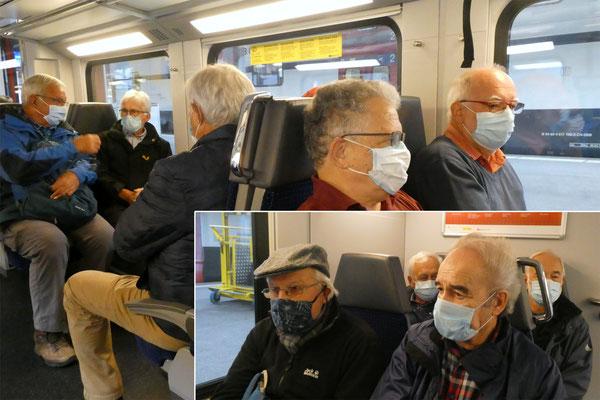Maskenpflichtige Bison, Glenn, Skal - Micky, Rugel - Pflueg, Fiasco, Chap, Stretch.