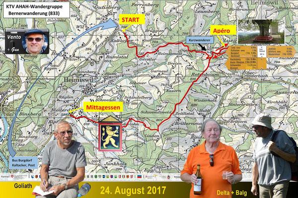 Berner Wanderung - Karte