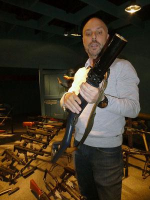 Gummischrot-Pistole