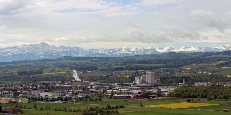 Wil und Alpenkette