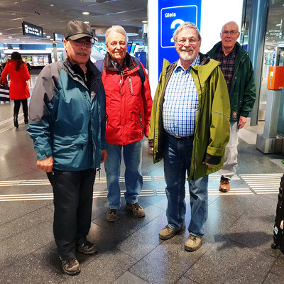 Rido, Patsch, Floh, Presto, Zürich Flughafen
