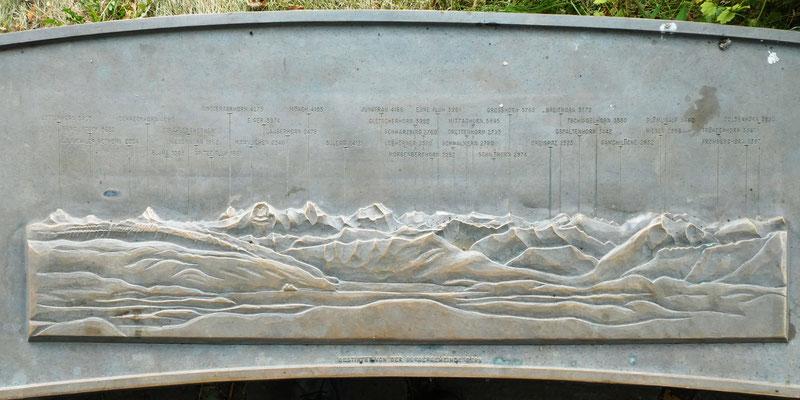 Panorama Tafel - Tavel Denkmal