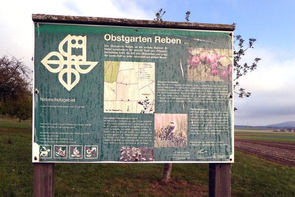 Obstgarten-Reben-Tafel