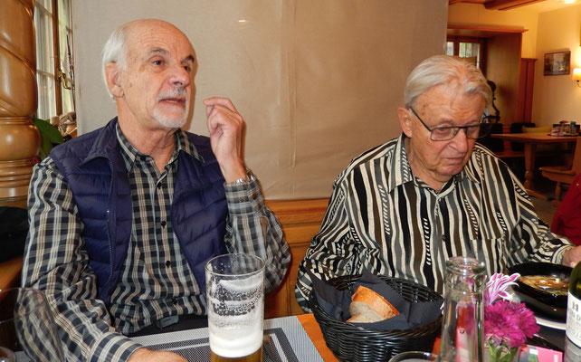 Chlapf & Patsch beim Mittagessen