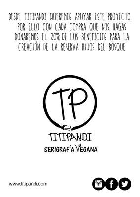 Titipandi nos donará el 20% de sus ventas en la tienda online
