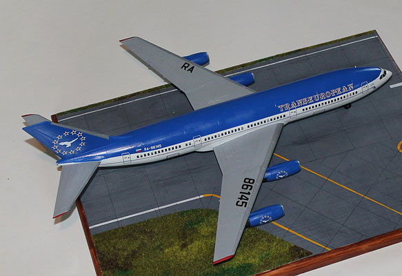 "IL 86 Transeuropean Airlines "" RA-86145 ""  Zvesda 1/144 -2"