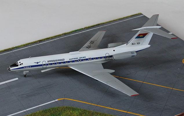 "TU 134A-3  "" XU-101 ""  Kampuchea Airlines   Zvesda  1/144 -6"