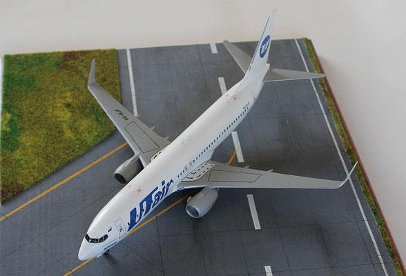 """B 737-800  """" VQ-BJF """"  UTair   Zvesda  1/144 -3"""