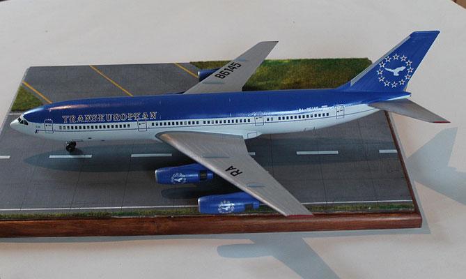 "IL 86 Transeuropean Airlines "" RA-86145 ""  Zvesda 1/144 -3"