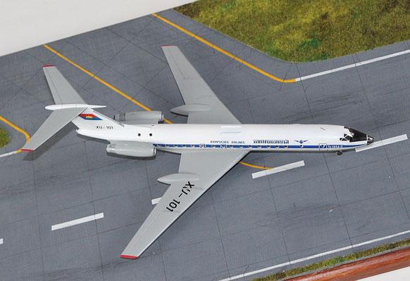 "TU 134A-3  "" XU-101 ""  Kampuchea Airlines   Zvesda  1/144 -3"